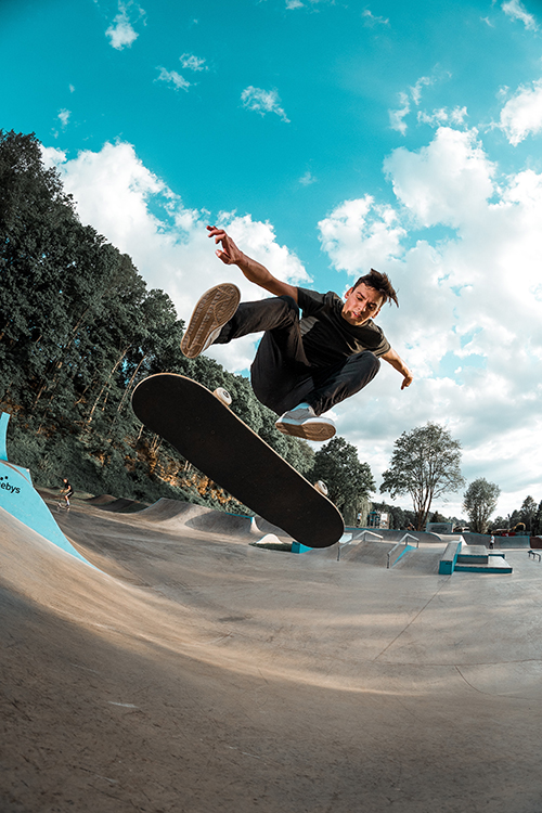 skateboad kickflip