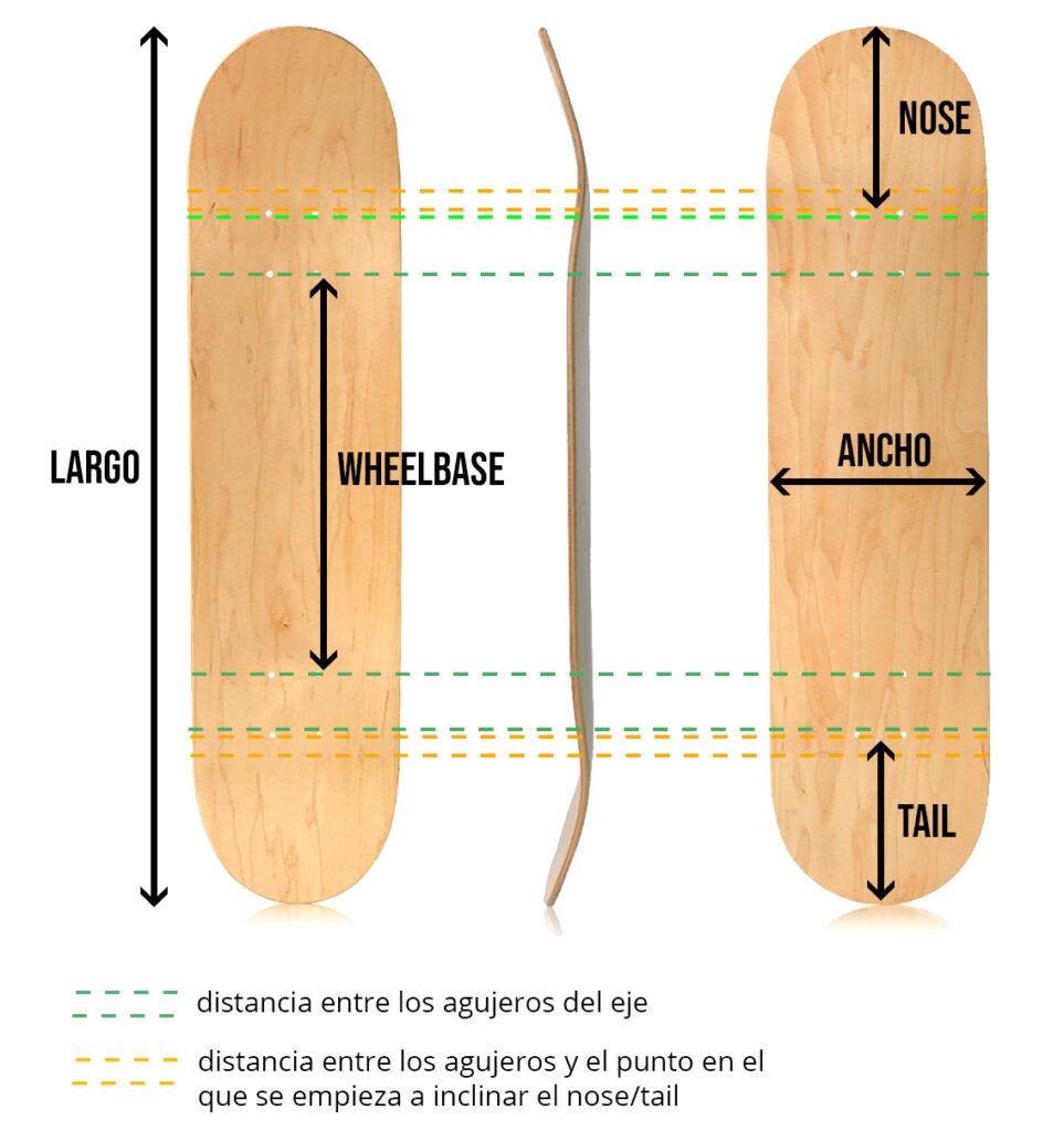 partes de una tabla de skate
