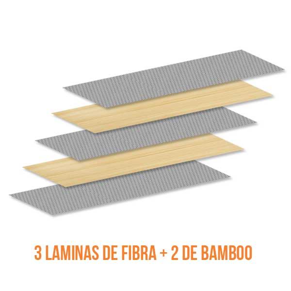 construcción skate fibra y bamboo