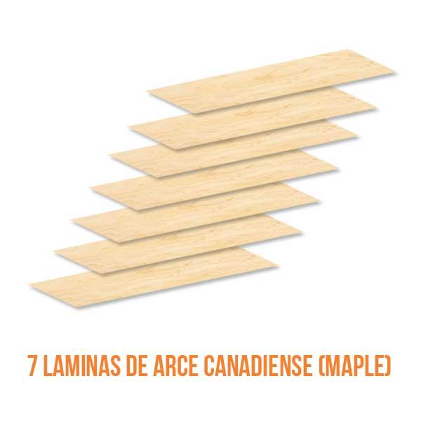 construccion skate 7 laminas de maple