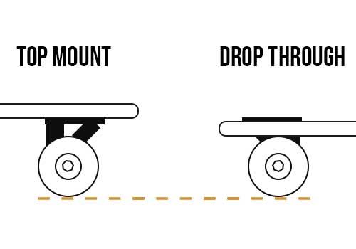 Longboard top mount vs longboard drop through