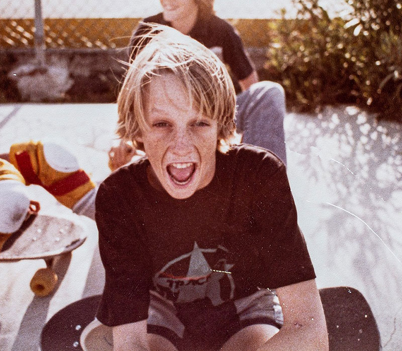 Tony Hawk when he was a kid