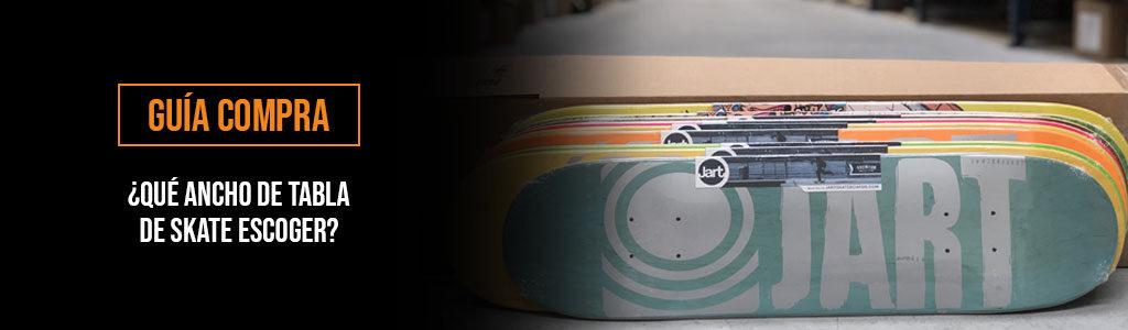 escoger ancho tabla skate